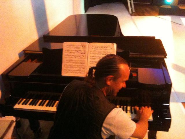 Jem Edwards on grand piano